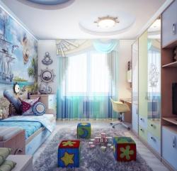 <p>Ремонт в детской комнате для будущего мореплавателя.</p>