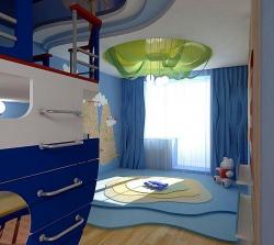 <p><em><strong>Ремонт детской комнаты - Тема море.</strong></em></p>