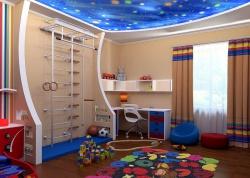 Ремонт и отделка. Детская комната для двух мальчиков. Звездное небо.