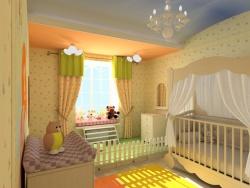 Интерьеры детских комнат для новорожденных. Ремонт и отделка.