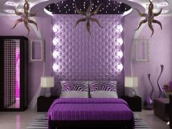 <p><em><strong>Ремонт спальни:&nbsp; Дизайн интерьера спальни. Цвет фиолетовый.</strong></em></p>