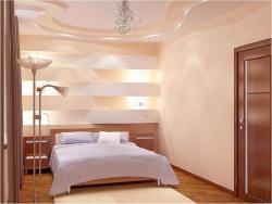 Ремонт спальни: Дизайн маленьких спальней в бежевых тонах.