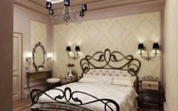 Ремонт спальни: элементы художественной ковки в дизайне спальни.