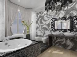 <p><em><strong>Ремонт ванной: дизайн ванной комнаты&nbsp; - черный цвет.</strong></em></p>