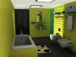 <p><em><strong>Ремонт ванной: ванная комната в салатовых тонах.</strong> </em></p>