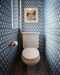 <p><em><strong>Ремонт и отделка туалета: тема&nbsp; Бесконечность.</strong></em></p>