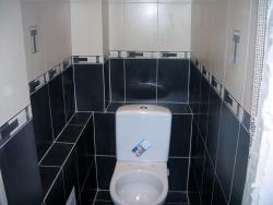 Ремонт и отделка туалета: wc дизайн санузла туалета - черный.