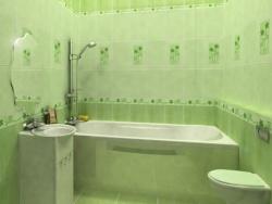 <p><em><strong>Дизайн плитки в ванной, цвет&nbsp; салатовый.&nbsp; Ремонт и отделка.</strong></em></p>