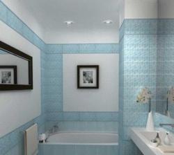 <p><em><strong>Кафельная плитка для ванной комнаты. Нежно - голубой цвет. Ремонт и отделка.</strong></em></p>