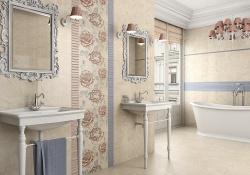 <p><em><strong>Облицовка стен ванной кафелем. &nbsp; Цвет бледно-бежевый.&nbsp; Ремонт-и-отделка-ванной.</strong></em></p>