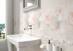 <p><em><strong>Плитка в ванную комнату нежно-розовый.&nbsp; Ремонт и отделка.</strong></em></p>