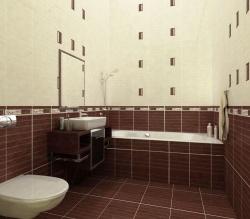 <p><em><strong>Плитка в ванную комнату шоколадный цвет.  Ремонт и отделка.</strong></em></p>
