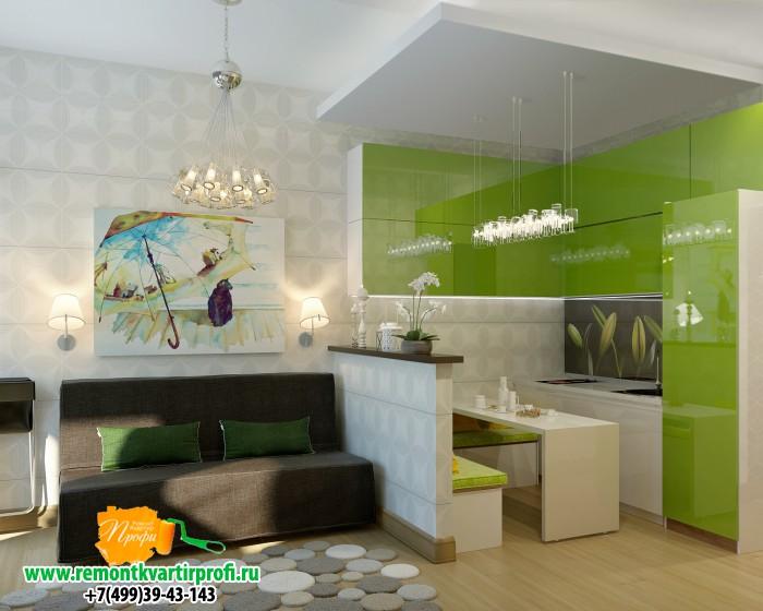 Маленькая гостиная кухня дизайн фото