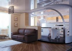 Гостиная-кухня современная. Ремонт-и-отделка.