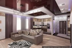 <p><em><strong>Дизайн гостиной совмещенной с кухней. Ремонт и отделка.</strong></em></p>