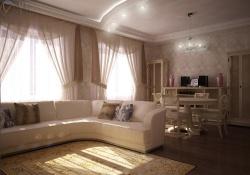 <p><em><strong>Дизайн гостиной совмещенной со столовой. Ремонт и отделка квартир.</strong></em></p>