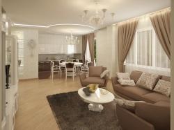 <p><em><strong>Идеальная гостинная с кухней фото. Ремонт и отделка квартир.</strong></em></p>