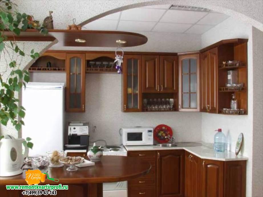 Ремонт кухни гостиной фото своими руками