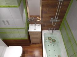<p>Дизайн маленькой ванной совмещенной с туалетом</p>