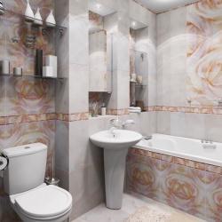 <p>Интерьер ванной совмещенной с туалетом</p>