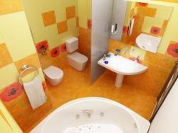 <p>Ванная комната совмещенная с туалетом</p>
