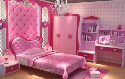 <p><em><strong>Детская комната для маленькой принцессы.</strong></em></p>