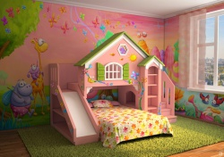 <p><em><strong>Ремонт детской комнаты для девочки: Комната сказка.</strong></em></p>