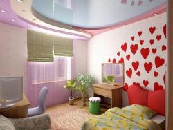 <p><em><strong>Ремонт детской комнаты для девочки. Забавные сердечки напоминают нашим дочуркам о нашей безграничной любви.</strong></em></p>