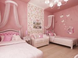 <p><em><strong>Дизайн детской комнаты. Детская для девочки в постельно розовый тонах.</strong></em></p>